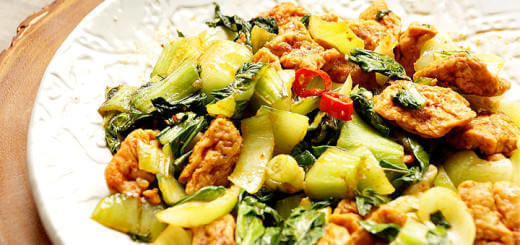 Bok Choy and Spicy Tofu