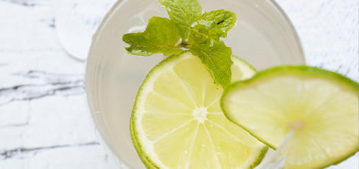 A glass of Lime Mint Coconut Water Recipe