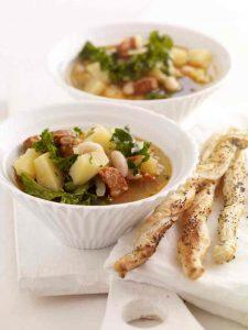 Potato Kale and Cannellini Bean Soup