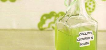 DIY Cooling Cucumber and Green Tea Toner