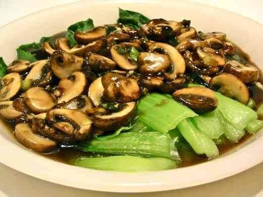 - Bok Choy with Shiitake Mushrooms