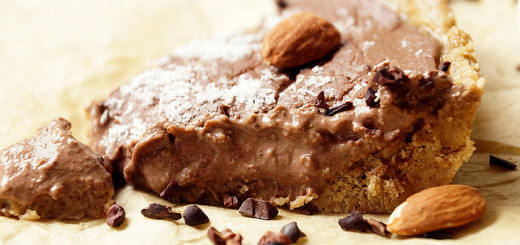 Chocolate Fudge Pie with Almond and Pecan Crust