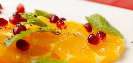 Fruit Salad: Orange and Pomegranates