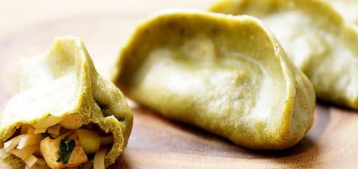 Green Vegetarian Dumplings