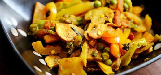 Healthy Stir Fry Vegetable Lemon Curry