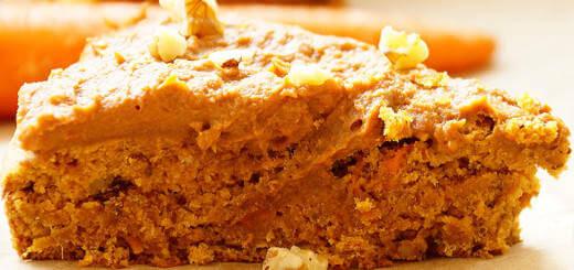 Healthy Vegan Sweet Potato and Carrot Cake