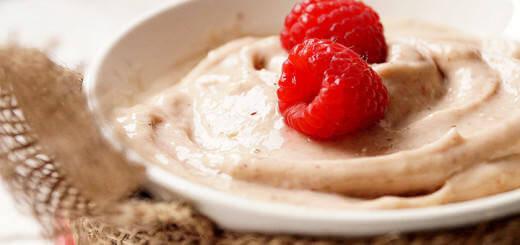 Raspberry Banana Vegan Soft Serve Ice Cream