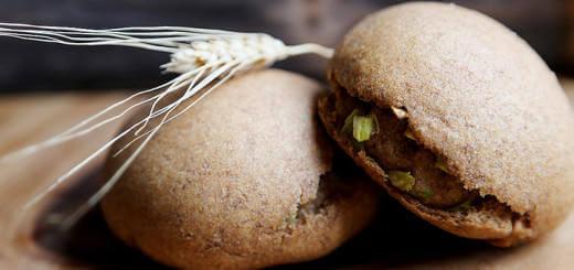 Scallion Whole Wheat Bread Bun