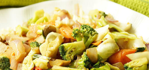 A plate of Vegetable Stir Fry Recipe