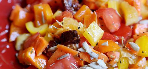 Yellow, Orange and Red Salad
