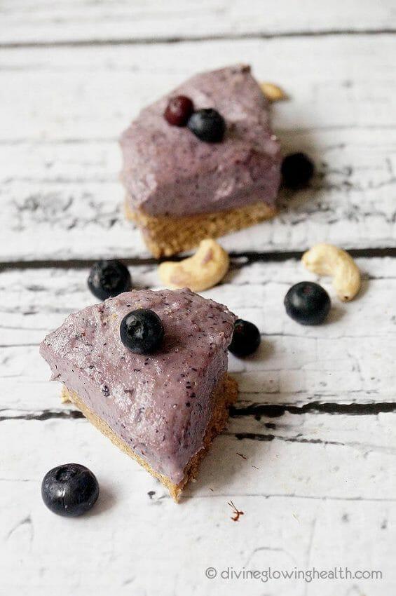 - Raw Vegan Blueberry Cheesecake